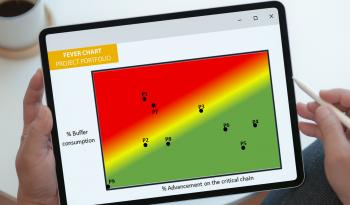 visual management, fever chart project portfolio